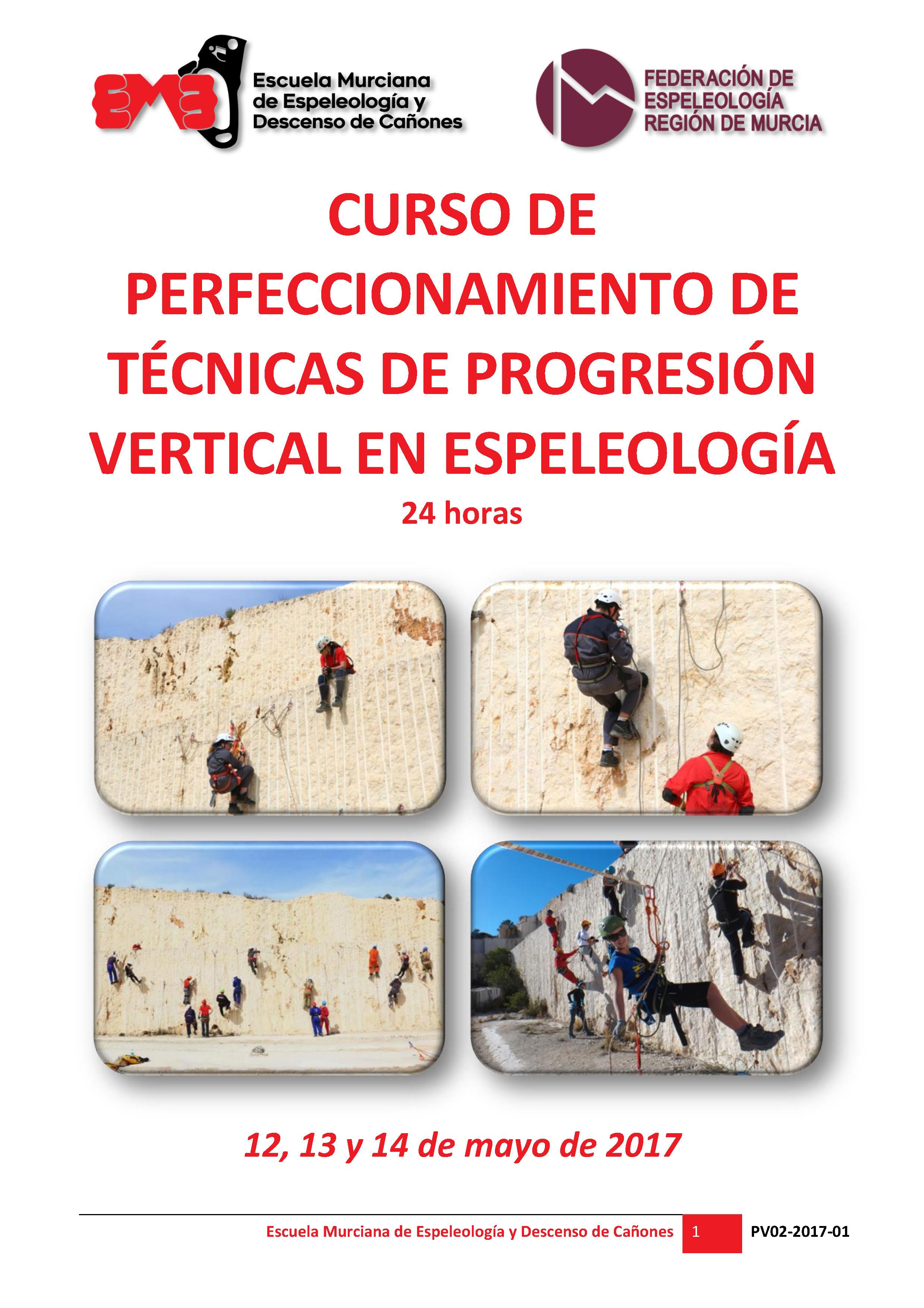 PV02 2017 01 Cartel Perfeccionamiento TPV Espeleolología