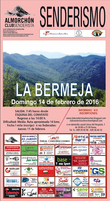 Cartel Almorchón 2016 14 feb