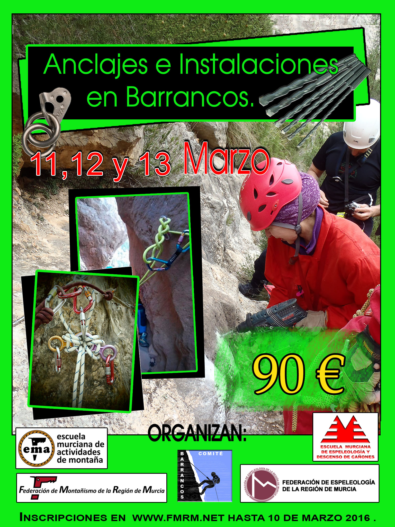 MB02-2016-01 Cartel Anclajes e Instalaciones en Barrancos